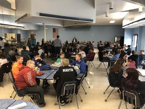 Gananda Middle School cafeteria on Mix It Up Day