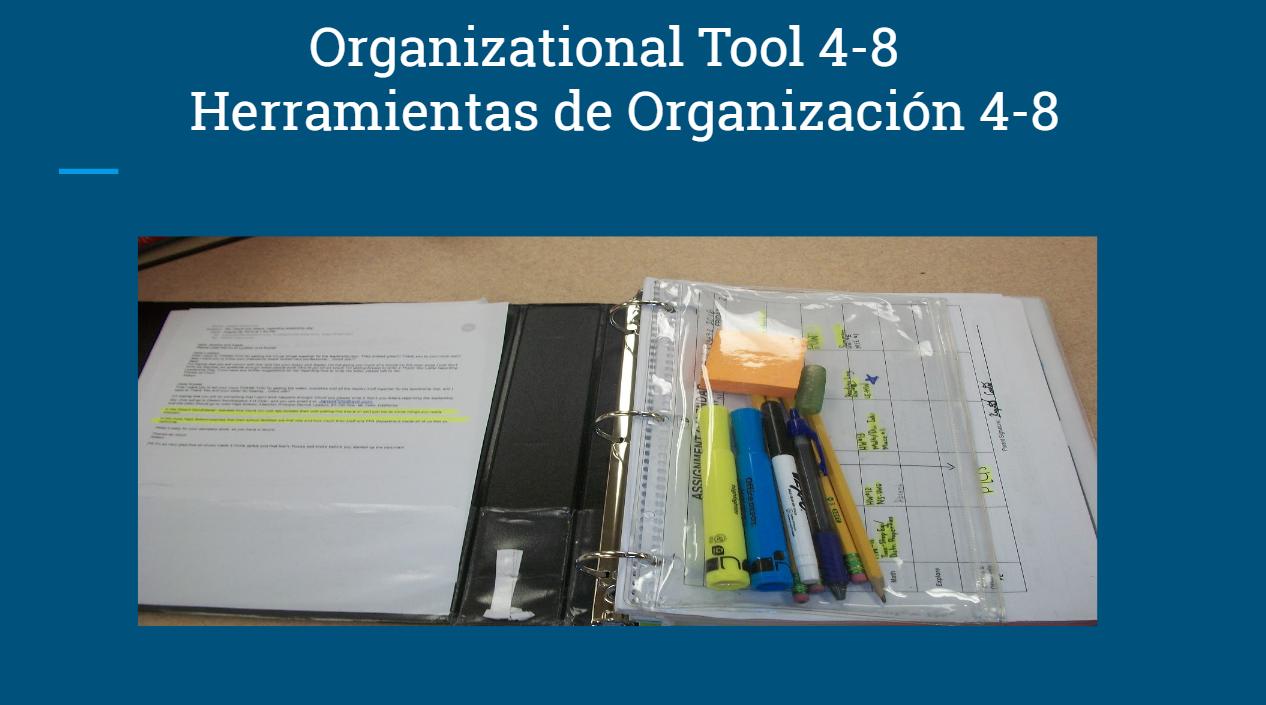 4-8th Grade Tools for Organization