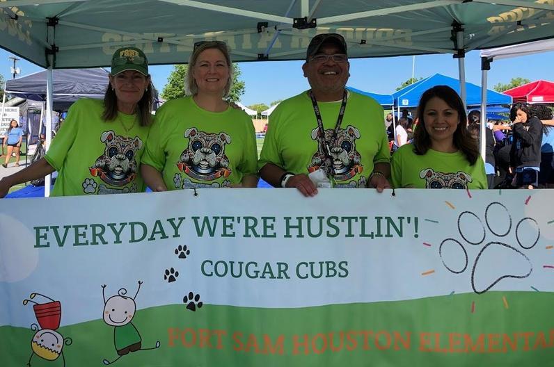 Elementary Banner-Jill, Raelynn, Maurio, and Ms. D