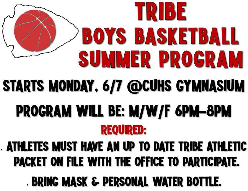 Boy's Basketball Summer Schedule