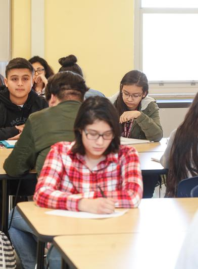 Hancock Students at work during Academic Lab