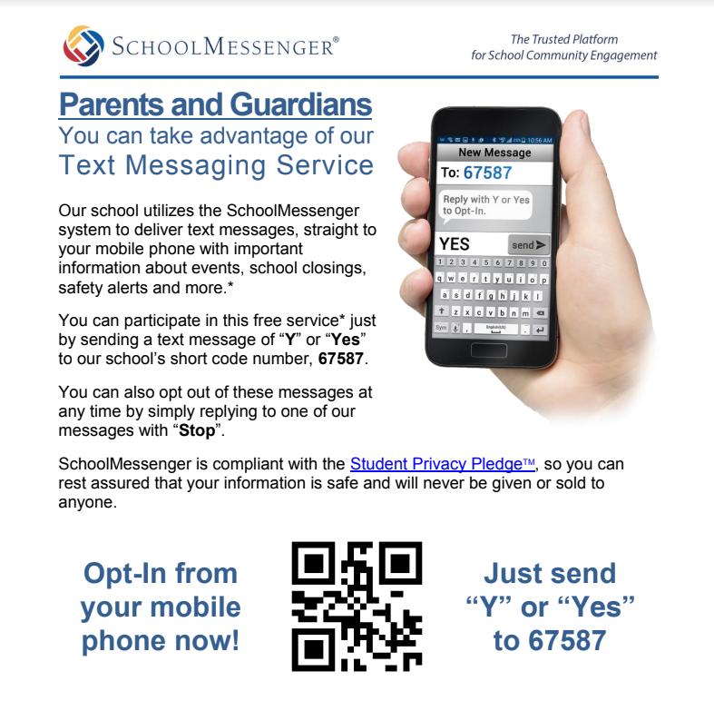 Sign-up for SchoolMessenger/ Registrarse en SchoolMessenger