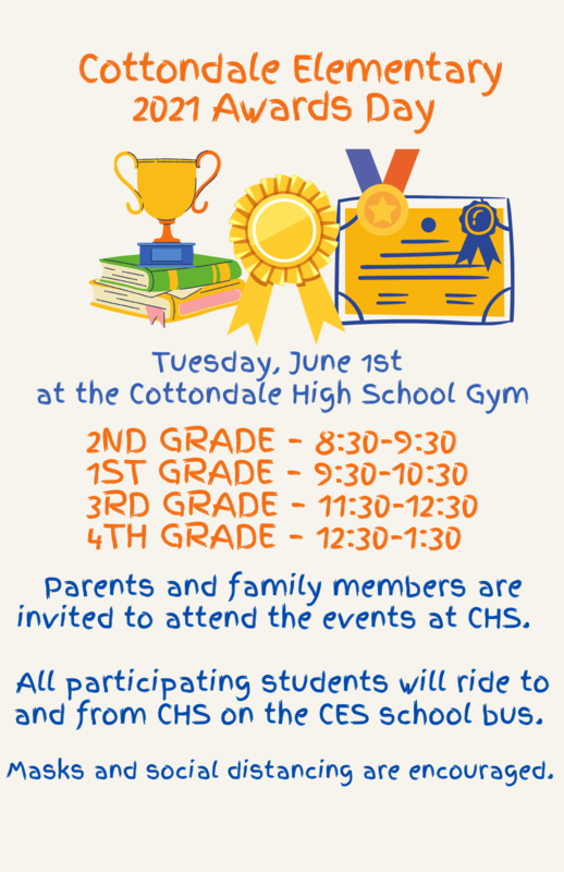 Schedule for Awards Day and times
