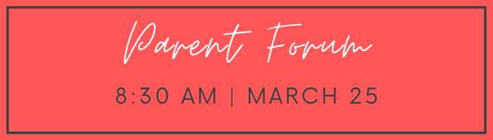 Parent forum - white text on red background
