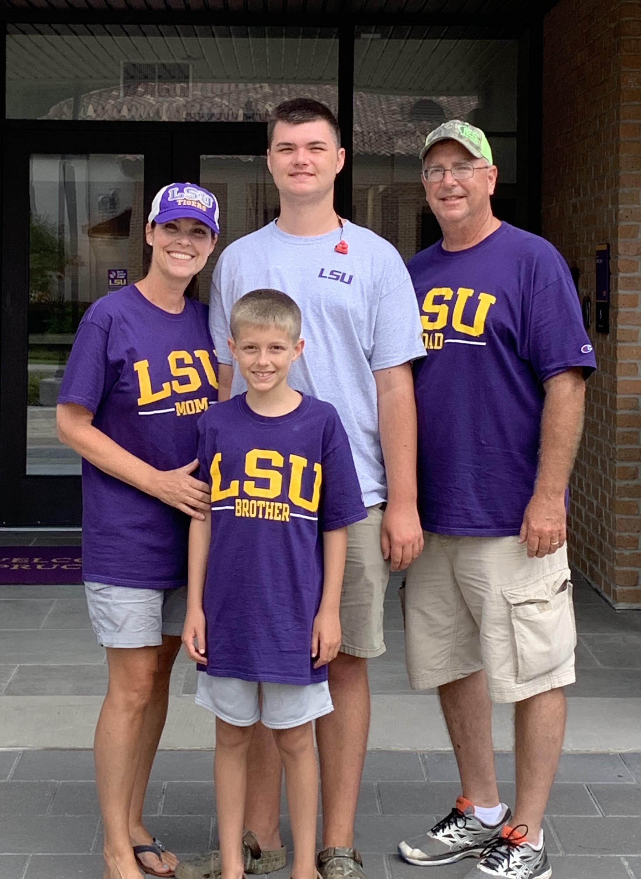Visiting our LSU Tiger!