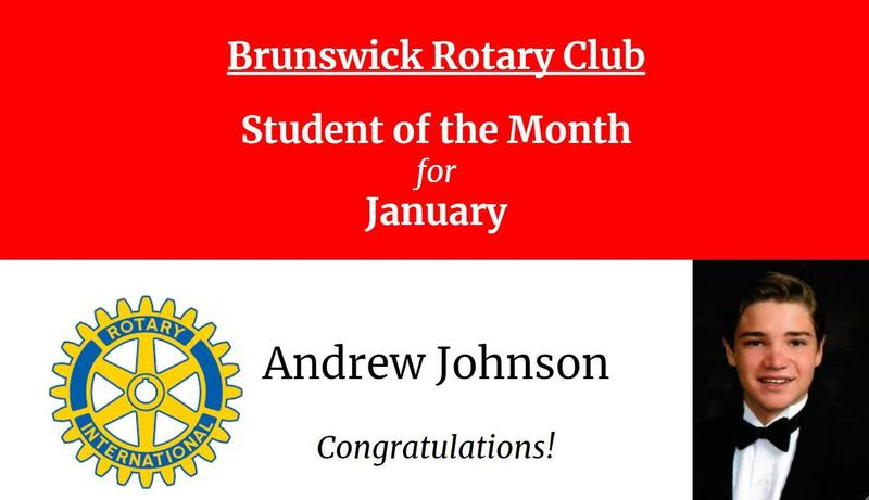 Andrew Johnson Selected Rotary Club Student of the Month Featured Photo