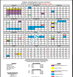 Photo of Draft Calendar