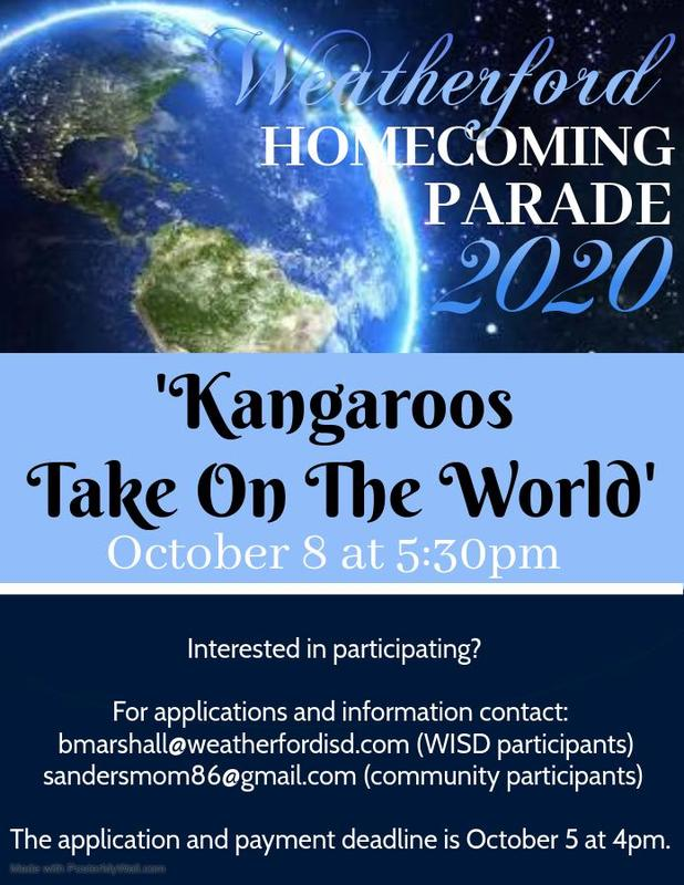Homecoming Parade Flyer