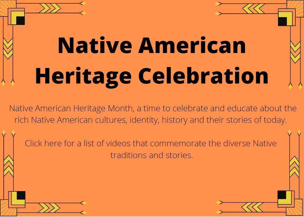 Flyer Describing Native American Heritage Month