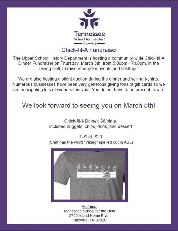 Chick-fil-A Fundraiser Flyer