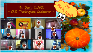 Thanksgiving zoom class