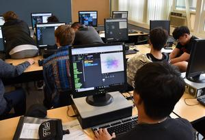 Students in Computer Science class