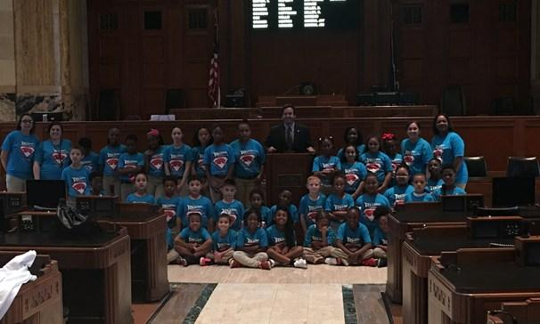 AR students inside state capitol