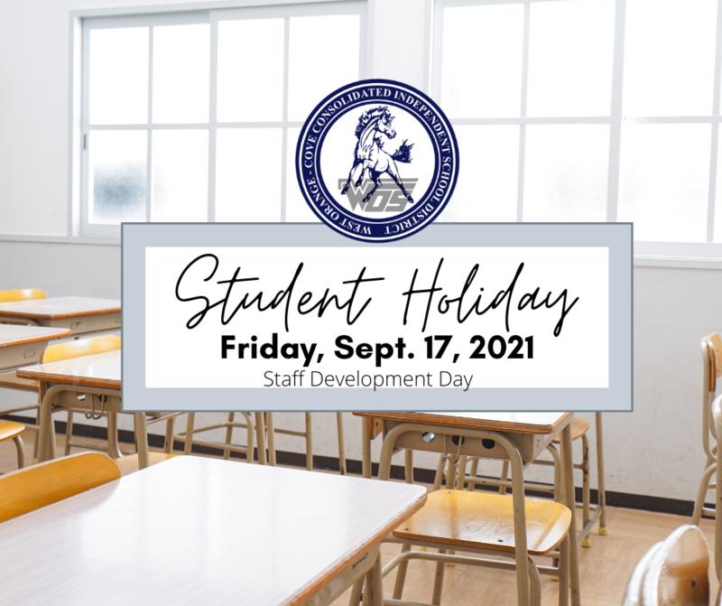 Student holiday/Staff development day 9.17.21