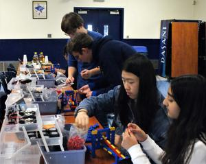 ):  Approximately 90 beginner and experienced computer programmers in 8th through 12th grade attend the 2nd Annual Hackathon at Westfield High School on Dec. 8.