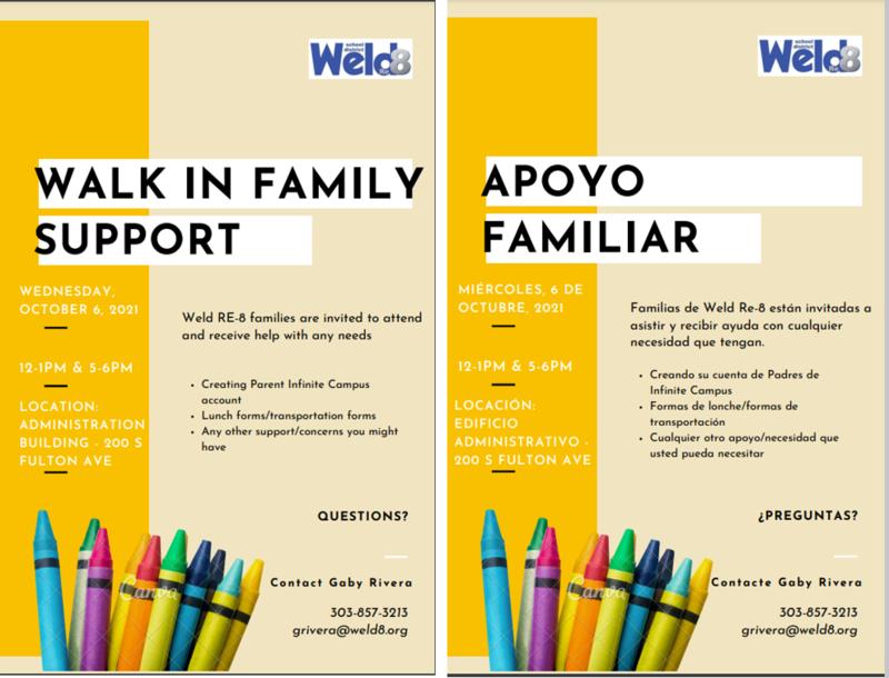 Walk in Support/Apoyo Familiar Flier