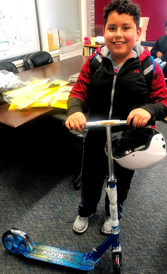 Robla Students Scoot Toward Excellent Attendance Image