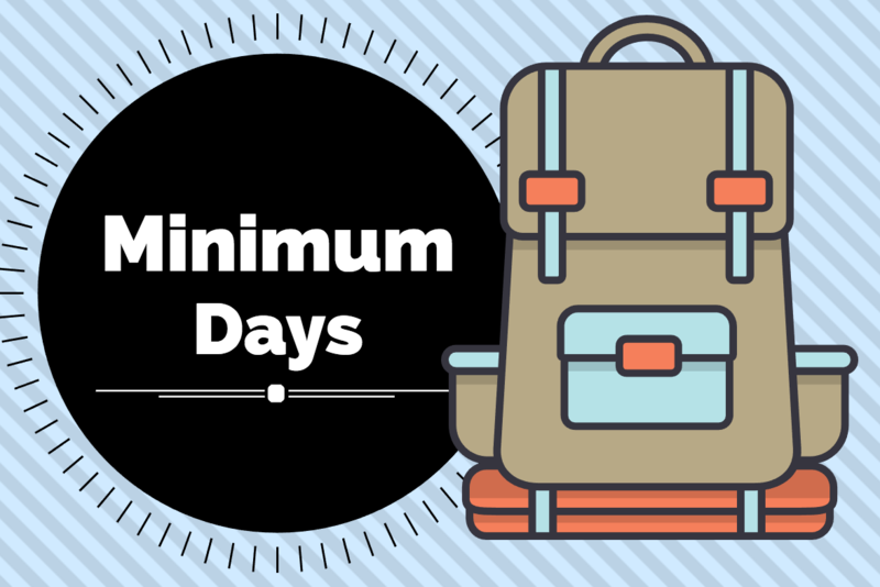 Minimum Days October 23,24, and 25th. Featured Photo
