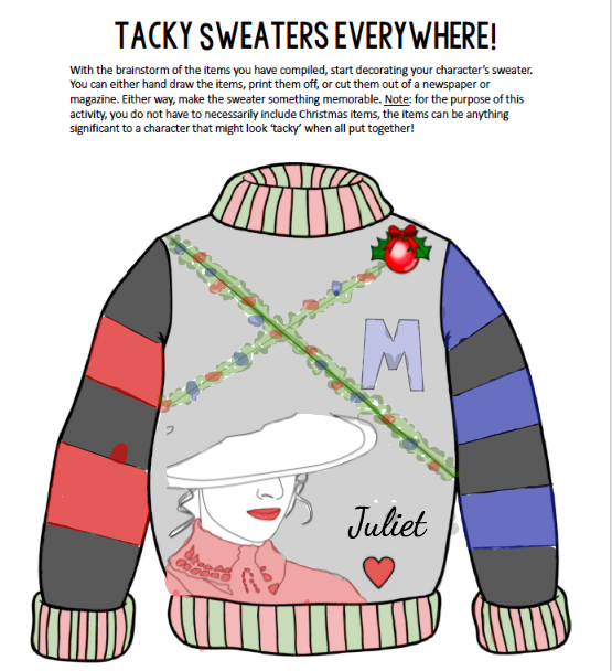Juliet sweater design with pastel colors