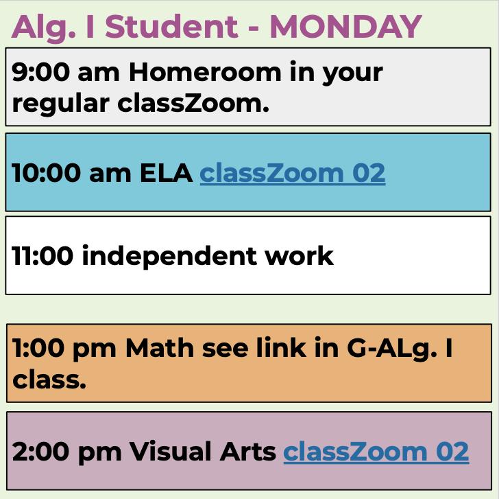 Alg. I students