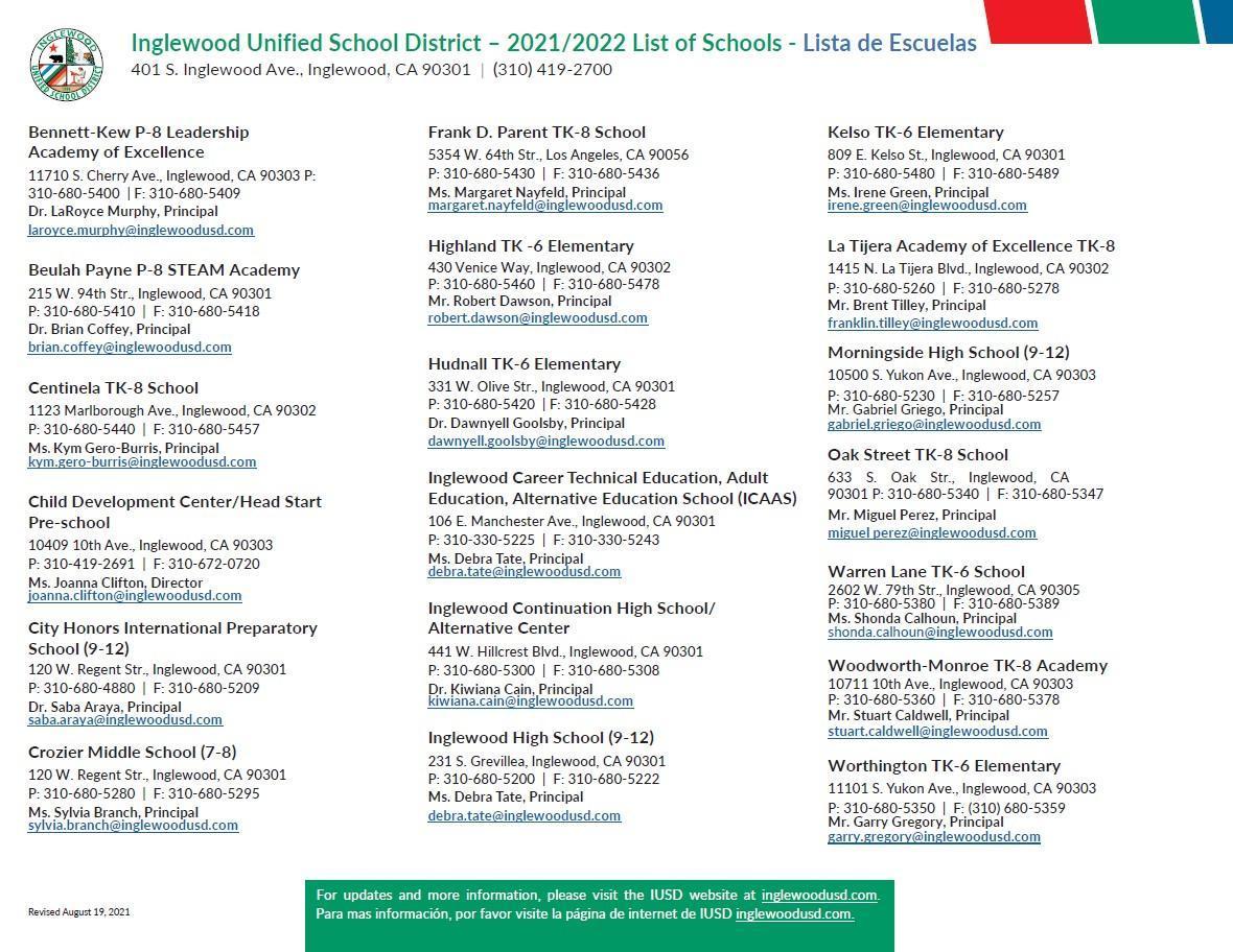IUSD School Directory