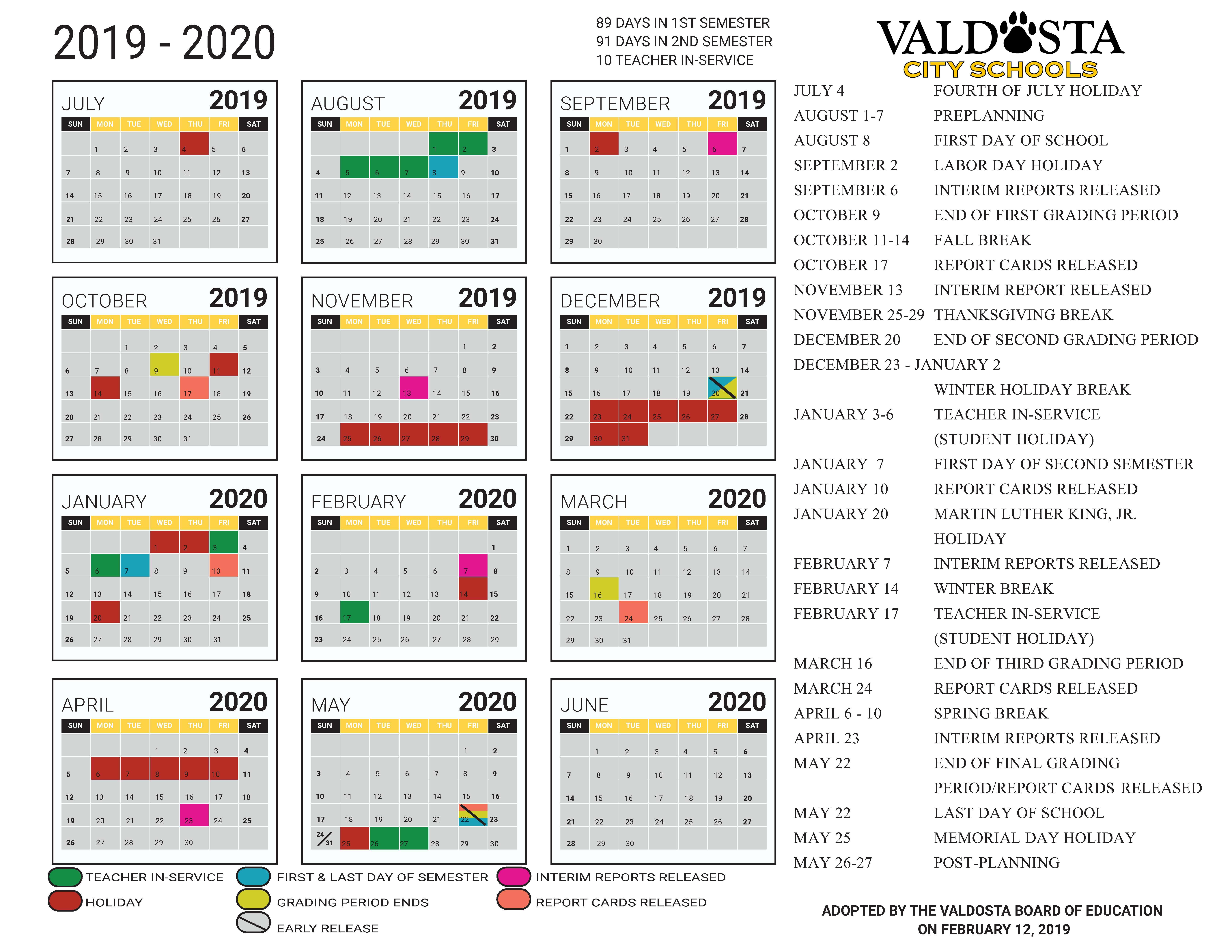 Utk Academic Calendar 2020-2021 2019   2020 Academic Calendar – Student Support Services