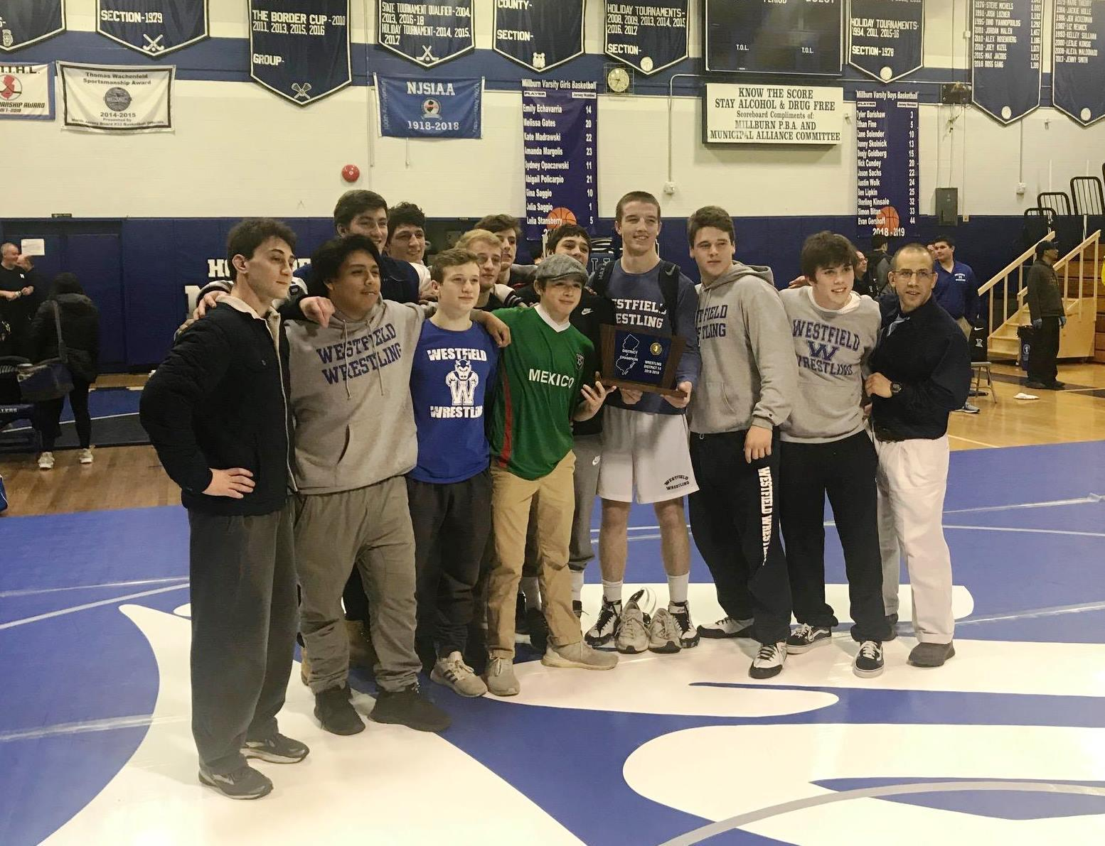 Congratulations WHS Wrestling 2019 District Champs!