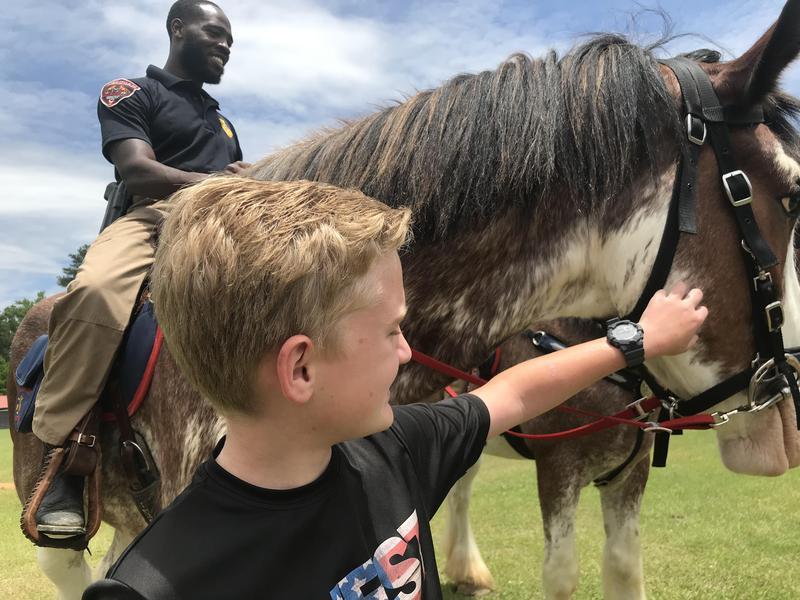 WLMS MPD Mounted Patrol Visit