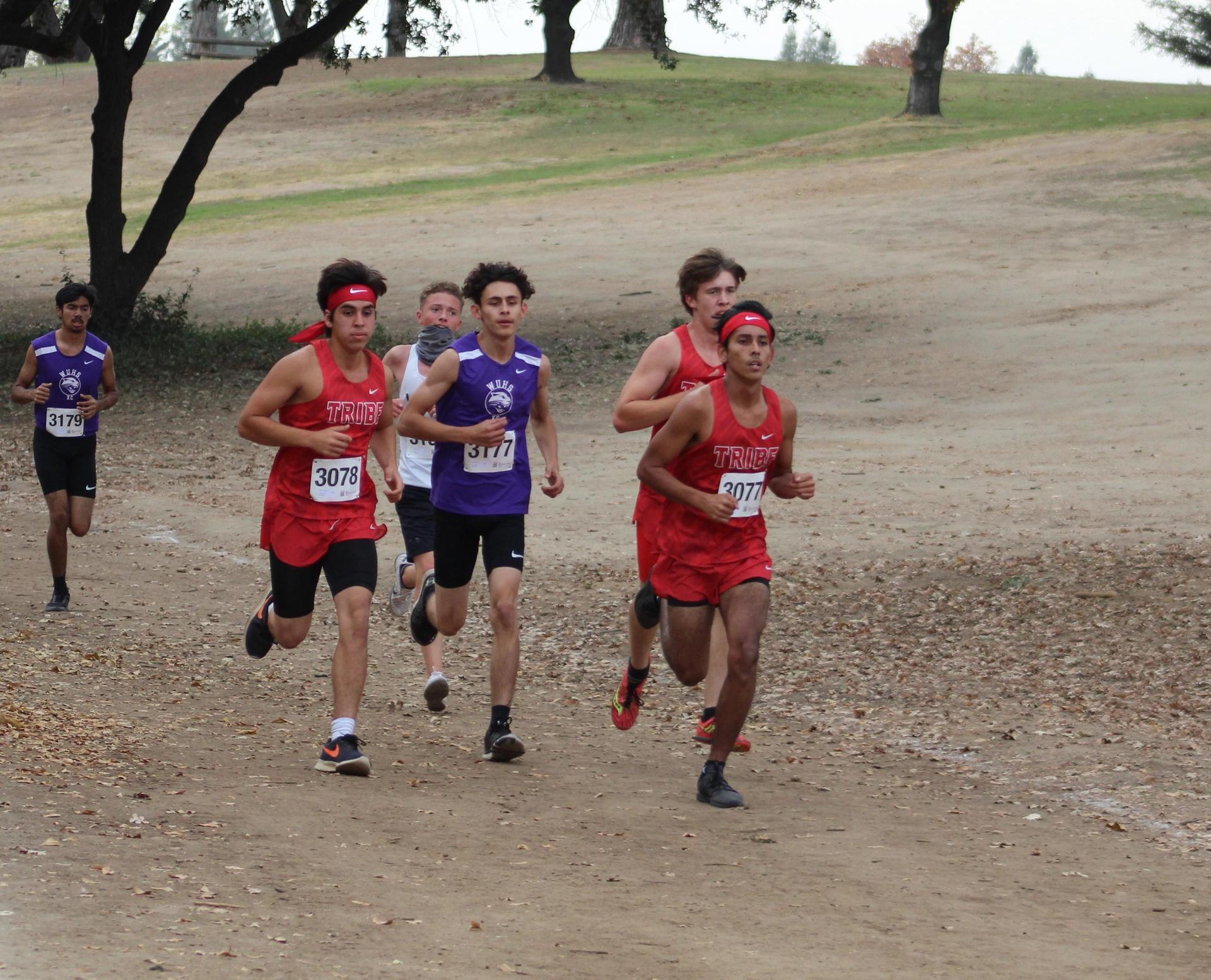 Nicholas Martinez, Raymond Mendoza and Nick Upton racing at woodward park