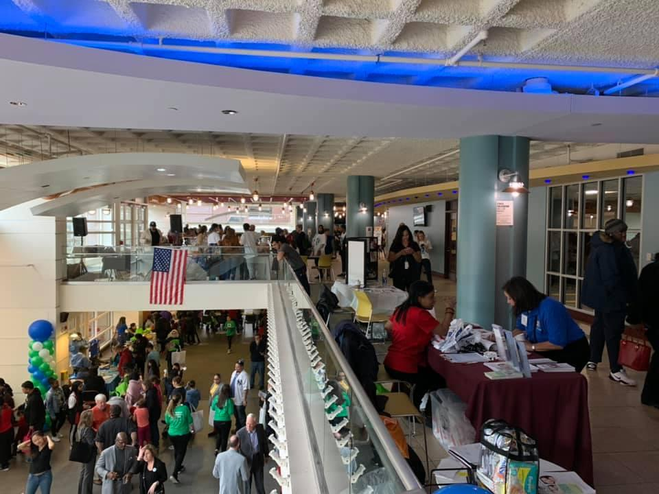 people attending the NUTURE NJ Festival in the entryway of City University