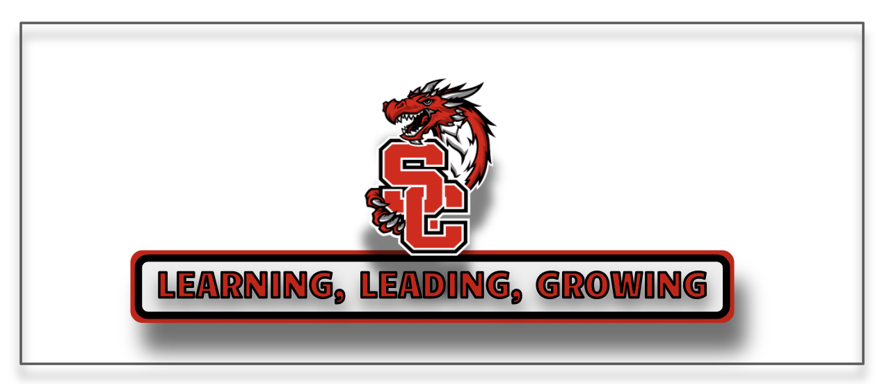 District logo above the District tagline: Leading, Learning, Growing