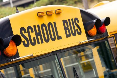 Image of the top of a school bus.