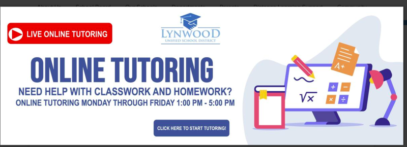 Live Online Tutoring Now Available for Students Monday-Friday Featured Photo