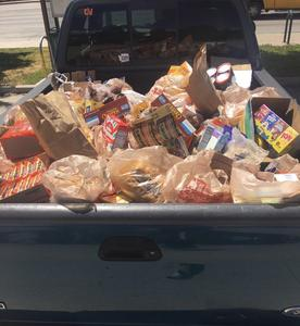 Truck full of food