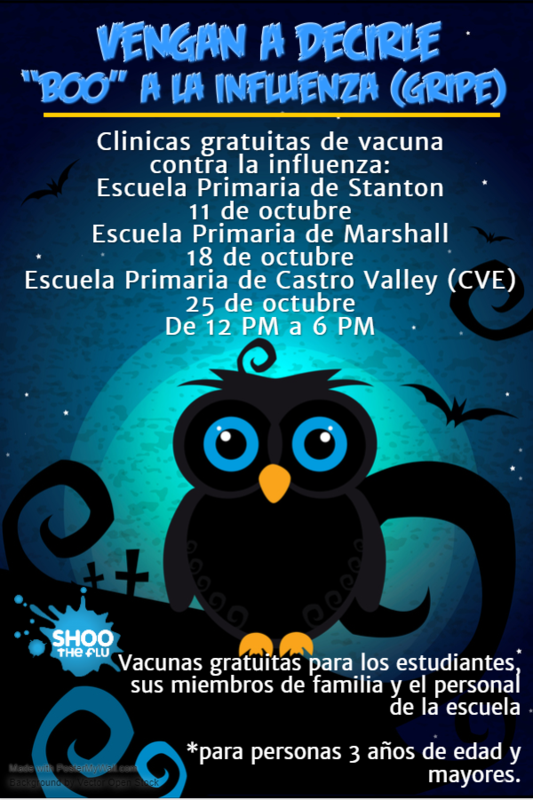 Boo to the Flu Flyer Spanish