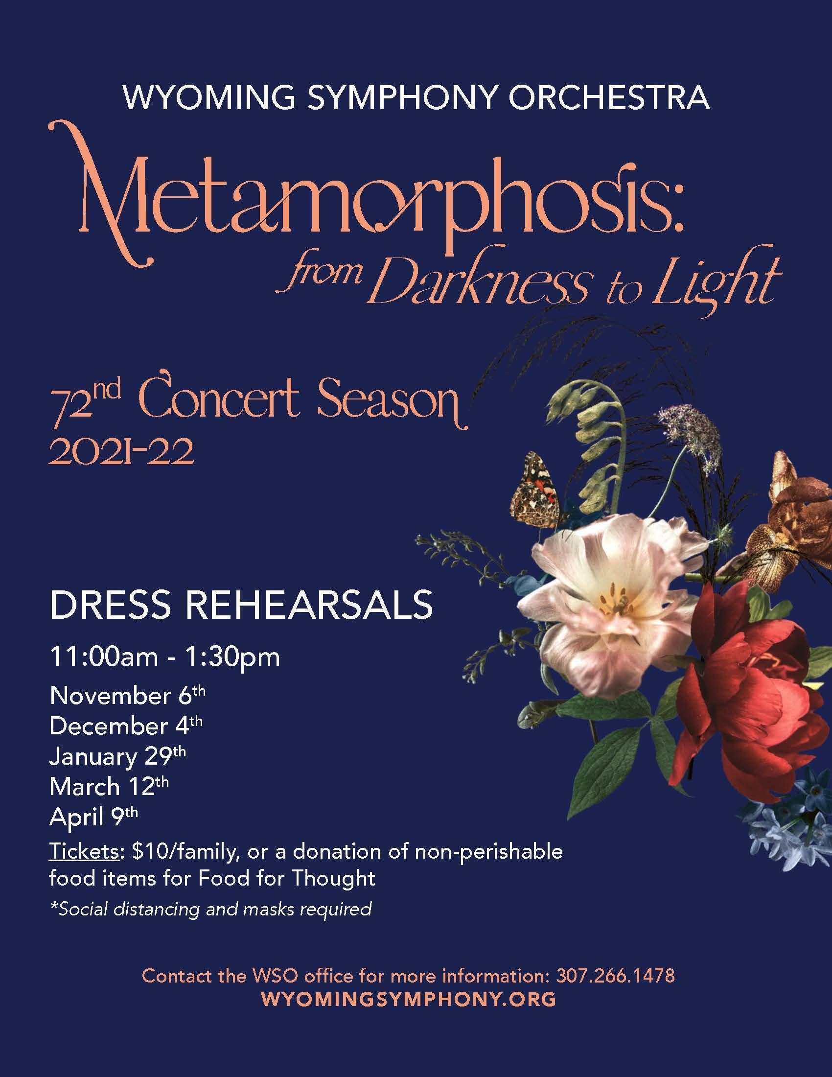 Wyoming Symphony Orchestra Dress Rehearsals Flyer