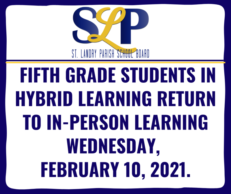 5th graders return to in-person learning