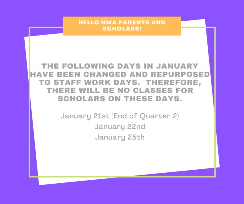 Planning Dates