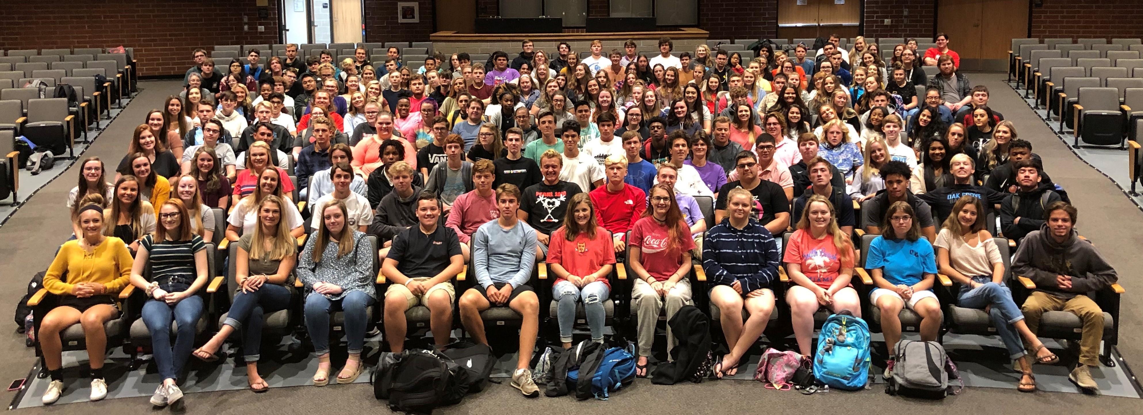 Senior Class in the Auditorium 2019