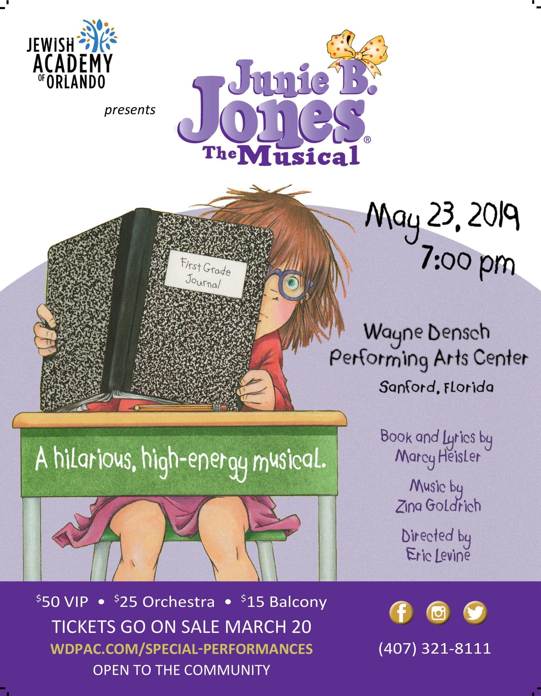 JAO Presents Junie B. Jones the Musical Image