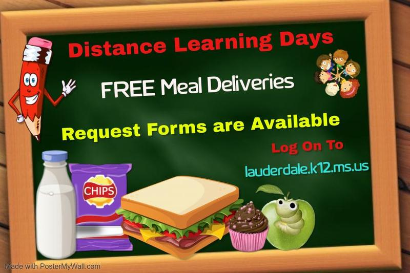 Distance Learning Days Free Meals Graphic