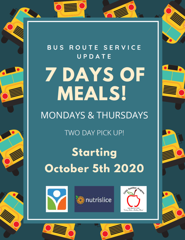 SBCISD 7 Days of Meals Flyer