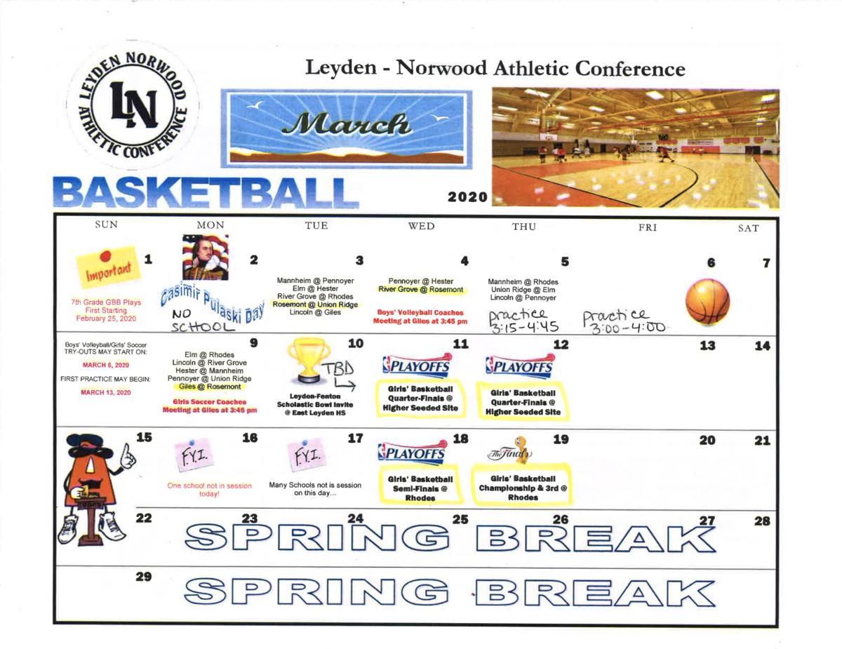 March Schedule