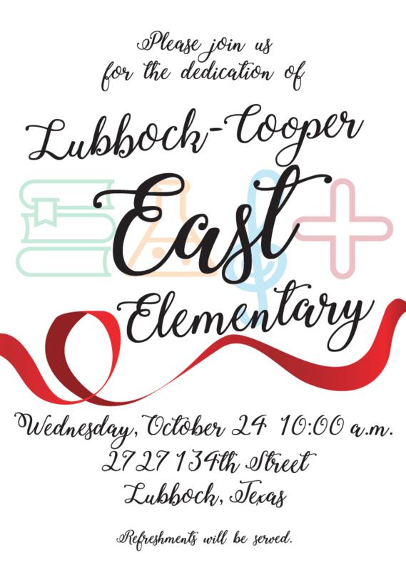 Dedication of East Elementary Wednesday, October 24 Thumbnail Image