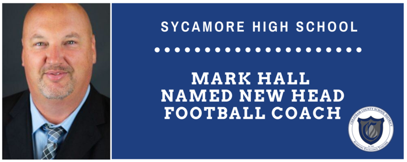 Mark Hall is the new Sycamore High School football coach