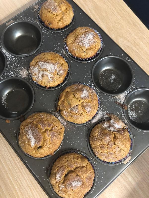 Muffins in the tin ready to eat