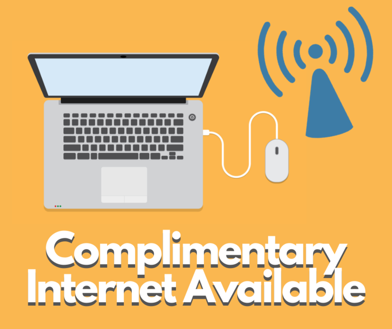 complimentary internet available