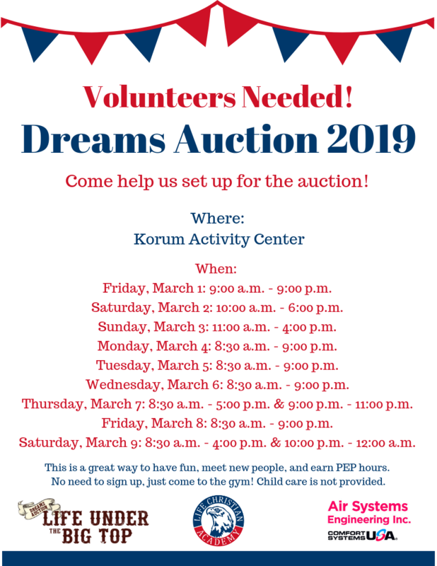 Auction Volunteers Needed! Featured Photo