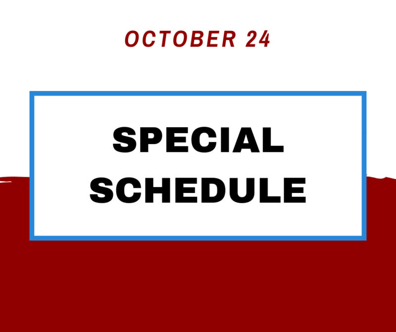Special schedule, PSAT tests on October 24 Thumbnail Image