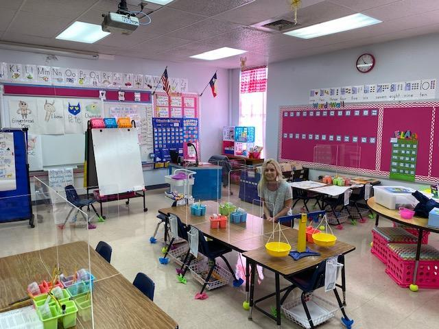 classroom with student desks